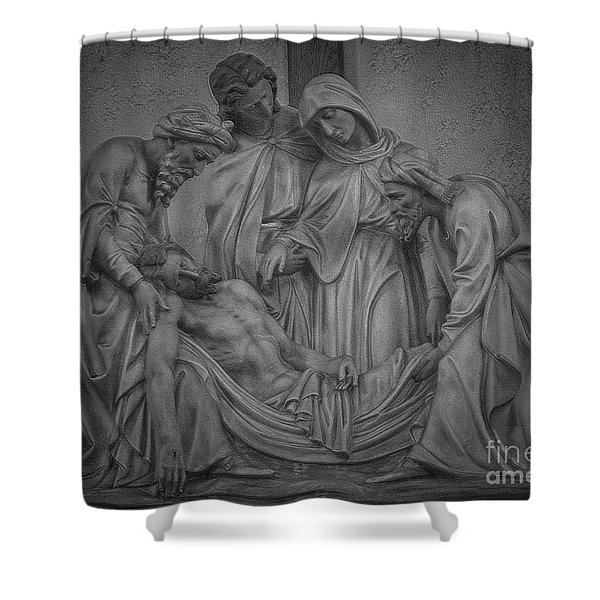 Station Of The Cross Shower Curtain