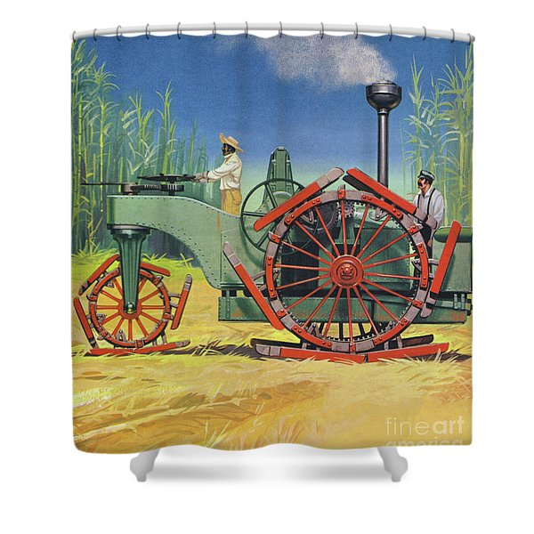 Steam Traction Engine Created To Work In The Sugar Plantations Of Cuba Shower Curtain