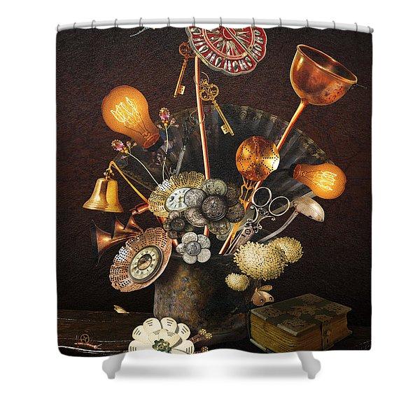 Steampunk Bouquet Shower Curtain
