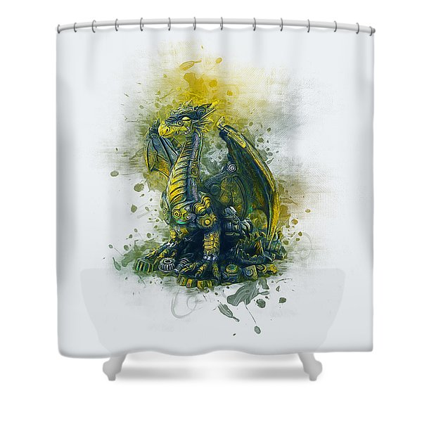 Steampunk Dragon Shower Curtain