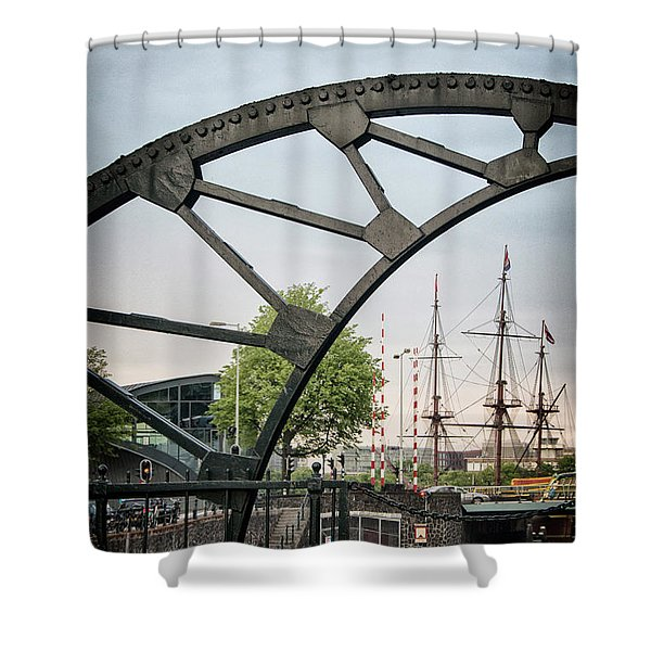 Steel And The Golden Age Shower Curtain