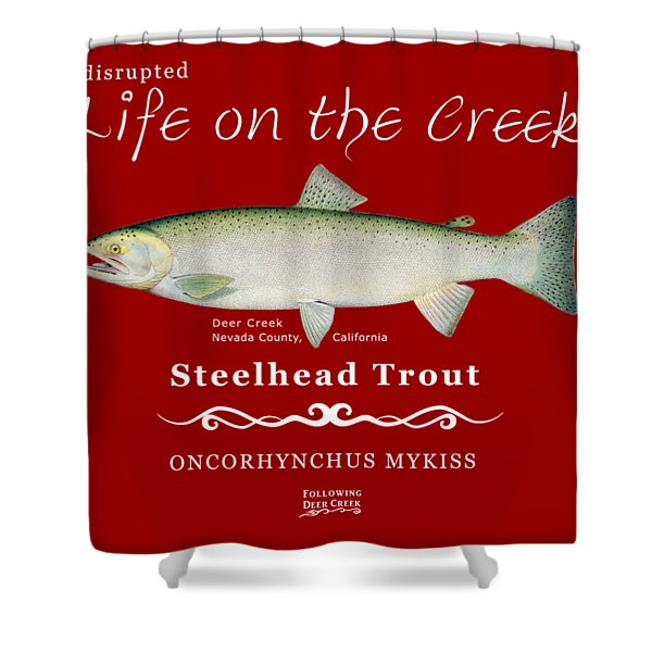Steelhead Trout Shower Curtain