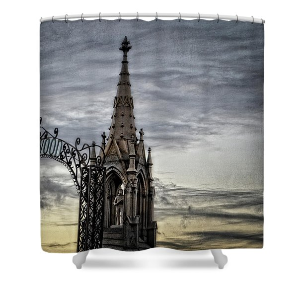 Steeple And Steel Shower Curtain