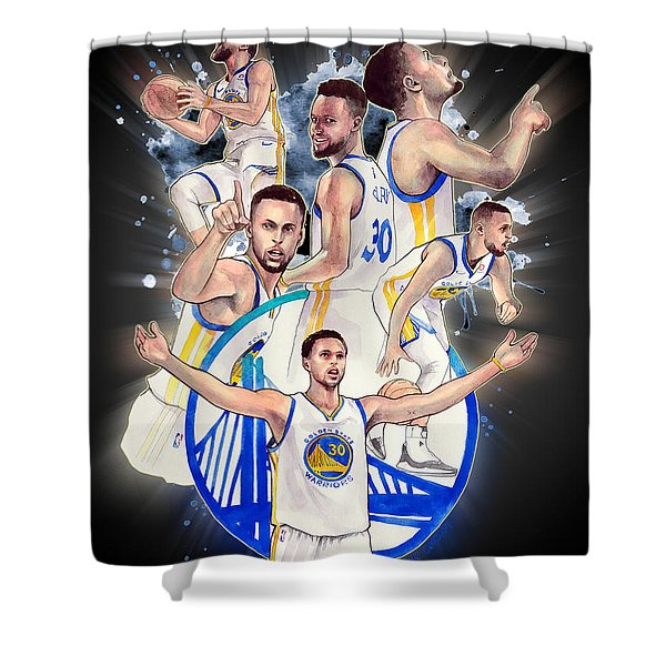 Stephen Curry Shower Curtain