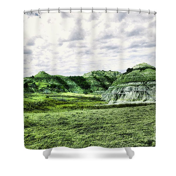 Stepping Into The Badlands Shower Curtain