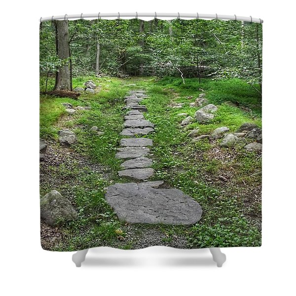 Stepping Stone Path - Kinnelon Shower Curtain