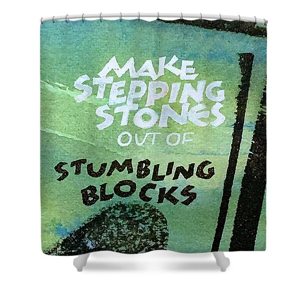 Stepping Stones Shower Curtain