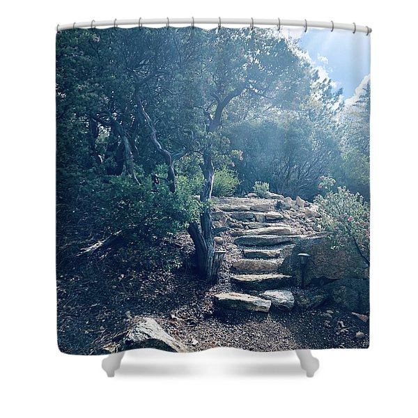 Steps To Enlightenment  Shower Curtain