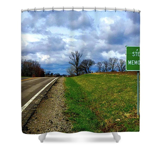Steve Mcqueen The Highway  Shower Curtain
