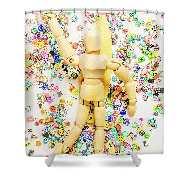 Sticker Surf Shower Curtain