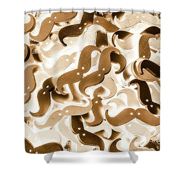Stiff Upper Lip Shower Curtain