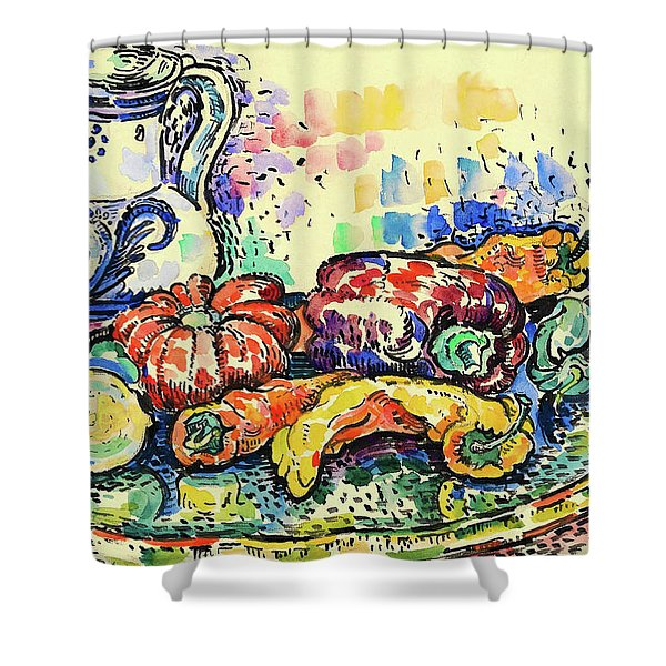 Still Life With Jug - Digital Remastered Edition Shower Curtain