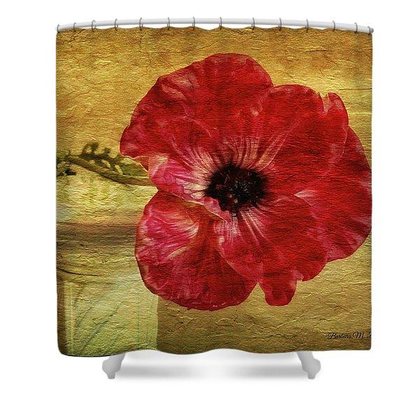 Still Life With Poppy Shower Curtain