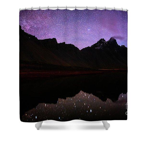 Stokksnes Stars Shower Curtain