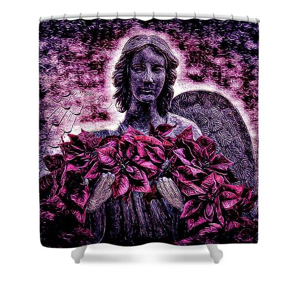 Stone Angel Shower Curtain