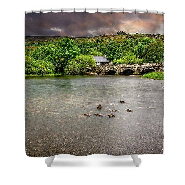Stone Bridge Llanberis Wales Shower Curtain