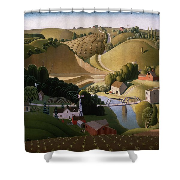 Stone City, 1930 Shower Curtain