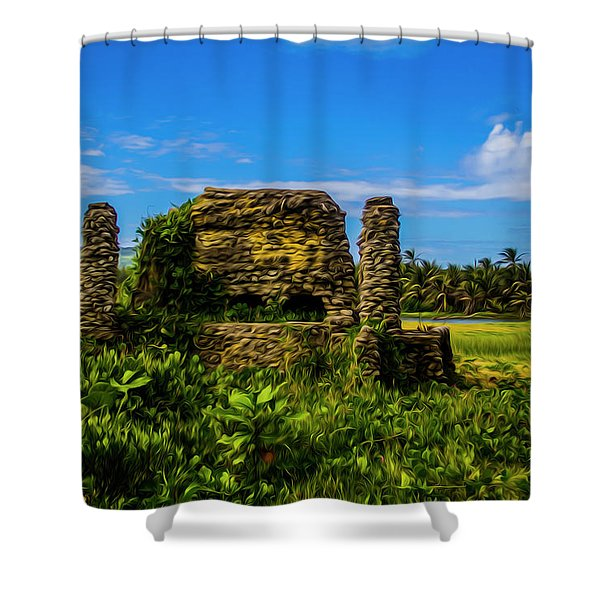 Stone Oven Shower Curtain