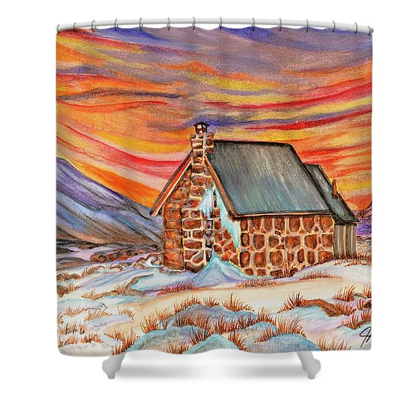 Stone Refuge Shower Curtain
