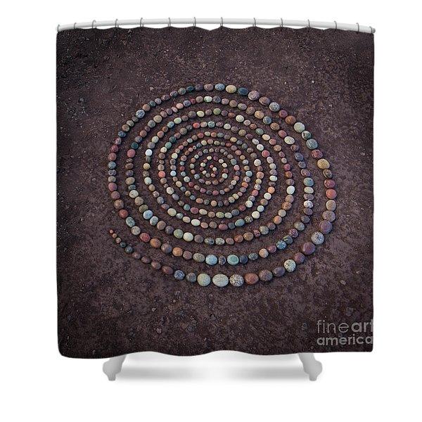 Stone Spriral Shower Curtain