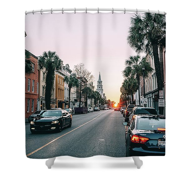 Stopping Time Shower Curtain