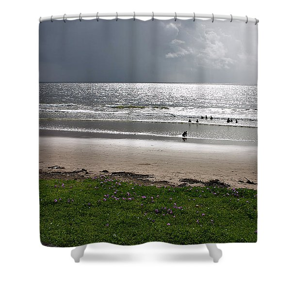 Storm Brewing Over The Sea Shower Curtain