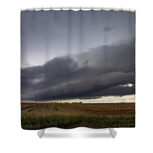 Shower Curtain featuring the photograph Storm Chasin In Nader Alley 004 by NebraskaSC