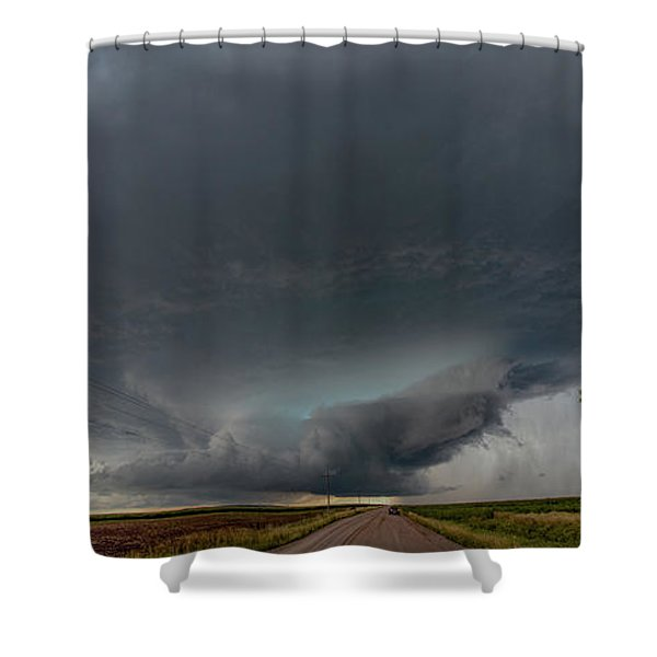 Shower Curtain featuring the photograph Storm Chasin In Nader Alley 008 by NebraskaSC
