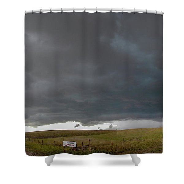 Shower Curtain featuring the photograph Storm Chasin In Nader Alley 016 by NebraskaSC