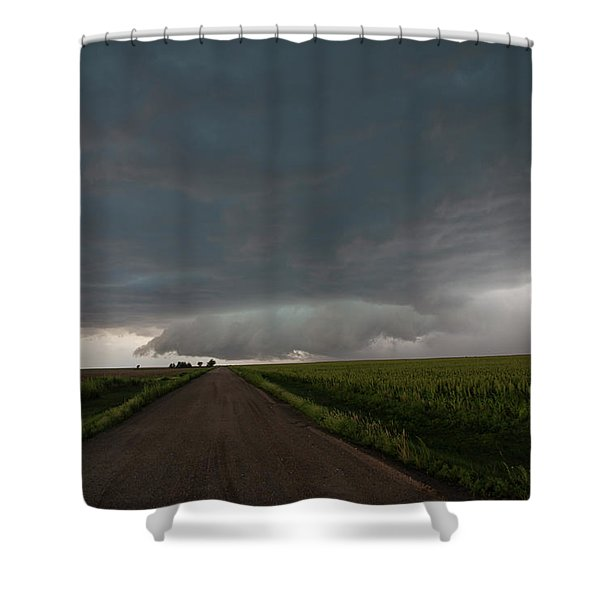 Shower Curtain featuring the photograph Storm Chasin In Nader Alley 025 by NebraskaSC