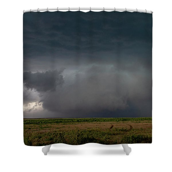 Shower Curtain featuring the photograph Storm Chasin In Nader Alley 030 by NebraskaSC