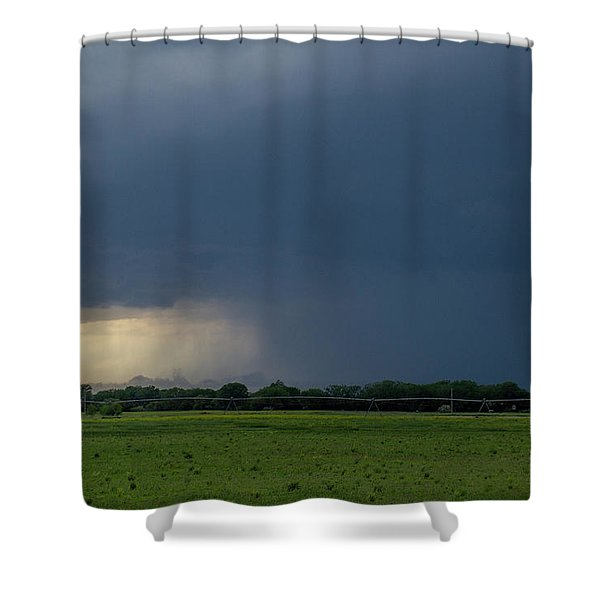Shower Curtain featuring the photograph Storm Chasing West South Central Nebraska 002 by Dale Kaminski