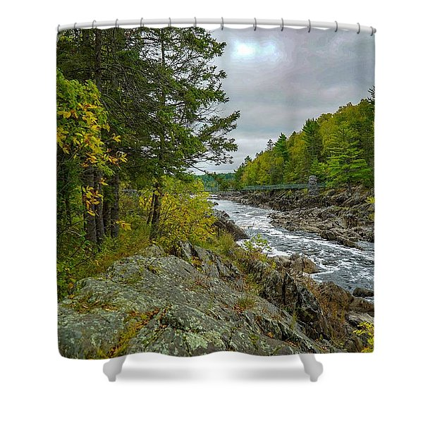 Storm Clouds At Jay Cooke Shower Curtain