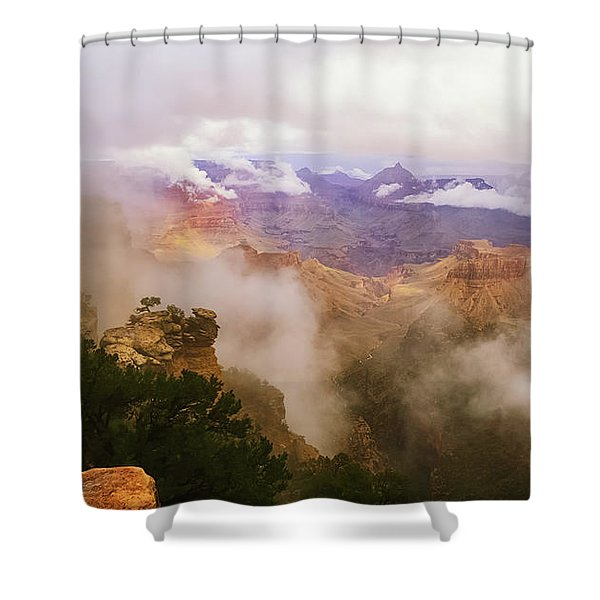 Storm In The Canyon Shower Curtain