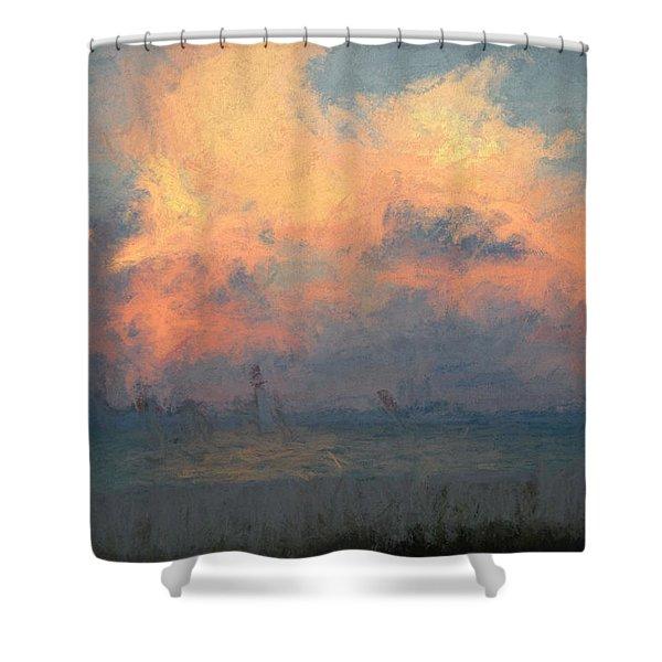 Stormy Beach Shower Curtain
