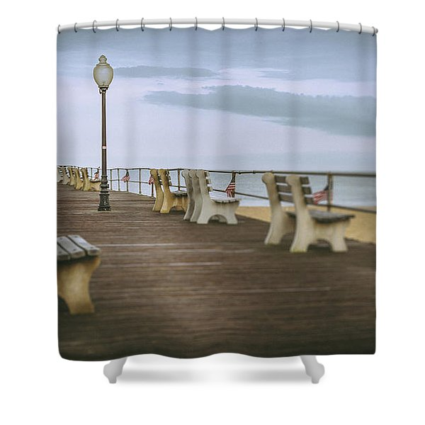 Stormy Boardwalk 2 Shower Curtain