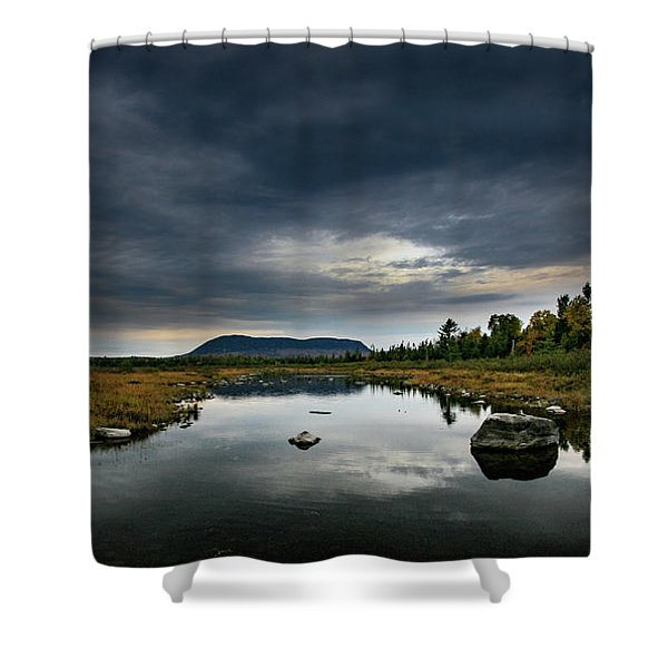Stormy Day In Maine Shower Curtain