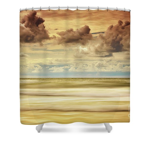 Stormy North Sea Shower Curtain