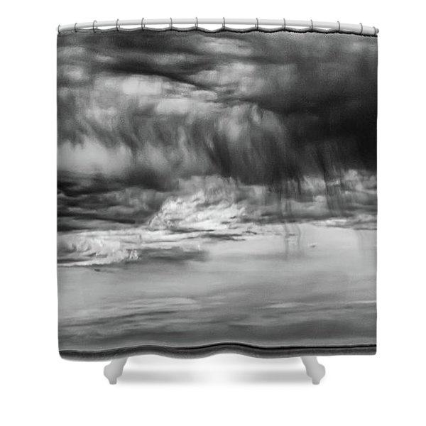 Stormy Sky In Black And White Shower Curtain