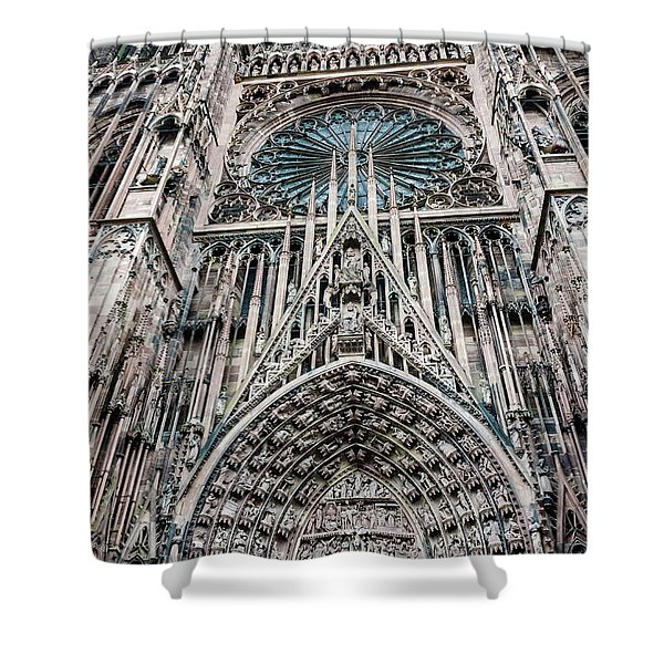 Strasbourg Cathedral Shower Curtain