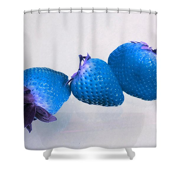 straw Berry Blues Shower Curtain