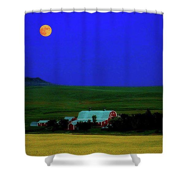 Strawberry Moon Shower Curtain