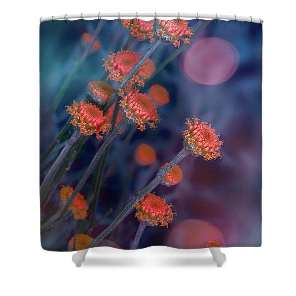 Strawflowers Shower Curtain