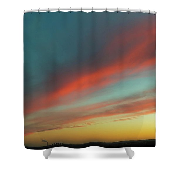 Streaming Sunset Shower Curtain