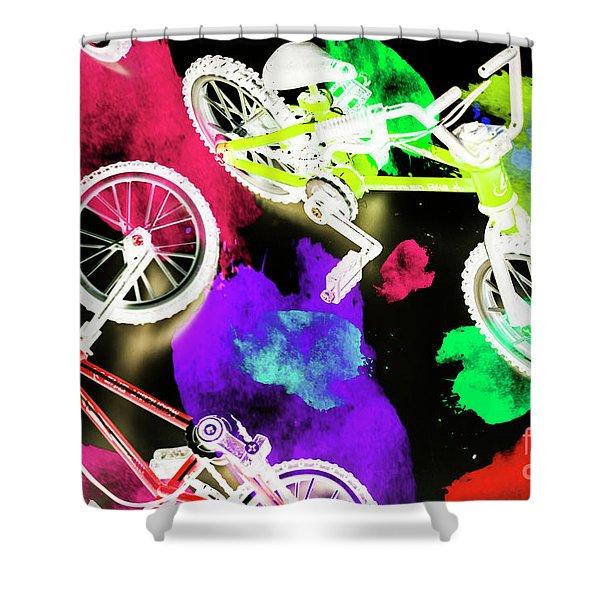Street Bike Art Shower Curtain