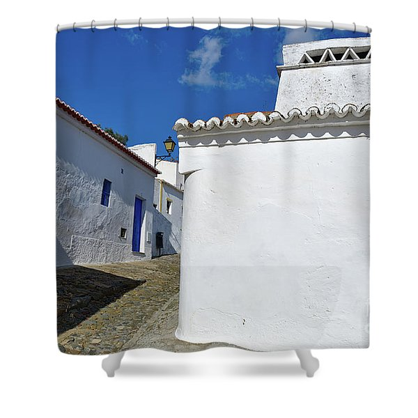 Streets Of A Medieval Castle. Alentejo Shower Curtain