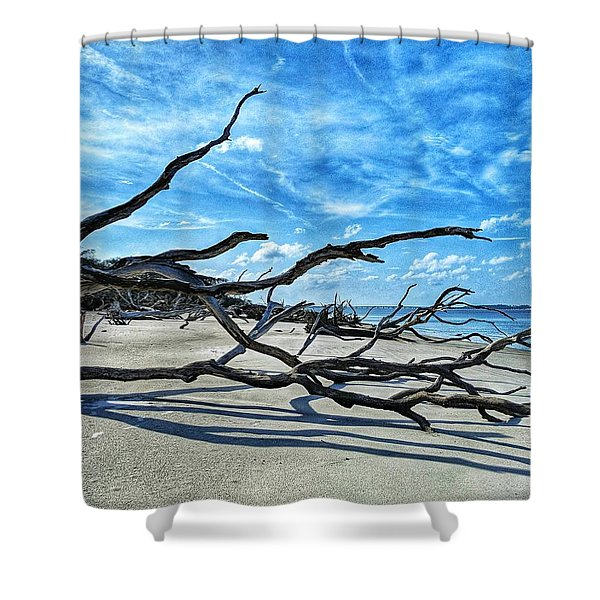 Stretch By The Sea Shower Curtain