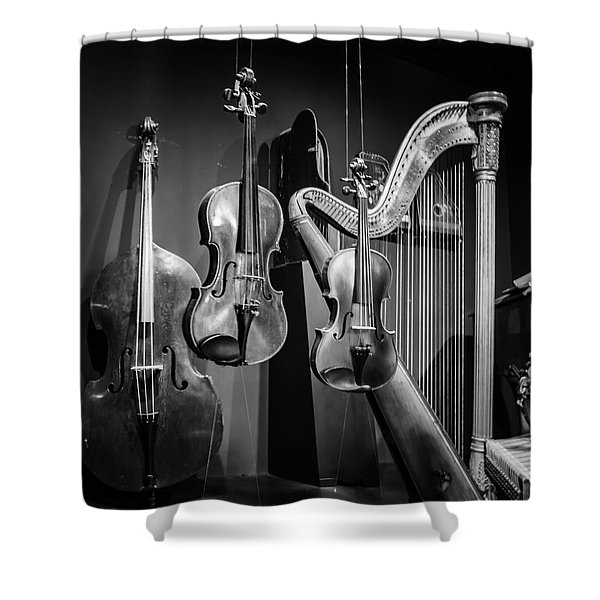 Stringed Instruments Shower Curtain