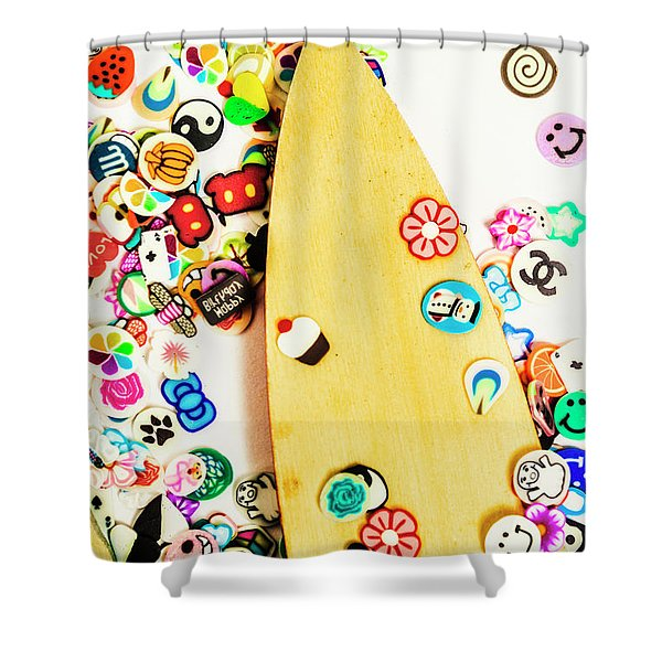 Stuck On Boarding Shower Curtain
