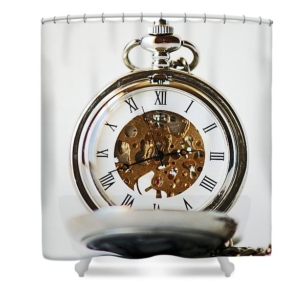 Studio. Pocketwatch. Shower Curtain